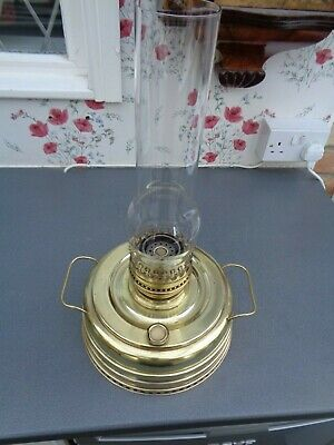 Large Brass Oil Lamp Heater / Burner 250 Mm Dia, 450 Mm Total Height, Parts