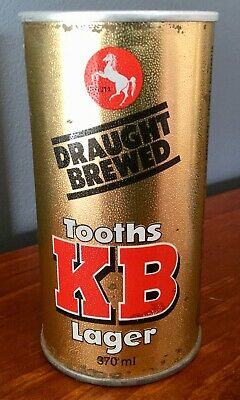 Tooths KB Lager. 370ml. Straight Steel. Beer Drink Can.