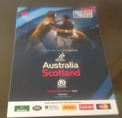 Australia v Scotland Official Programme 2015 Rugby World Cup  *Mint Condition*