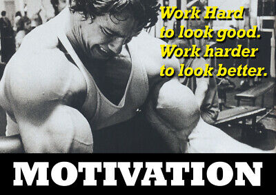 arnold schwarzenegger motivational poster - Body Builder quotes #30 - A3