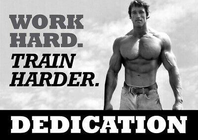 Arnold Schwarzenegger Motivational Poster - Body Builder quotes #40 - A3