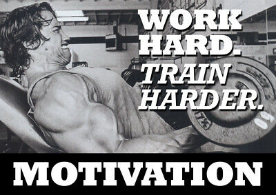 Arnold Schwarzenegger Motivational Poster - Body Builder quotes #42 - A3