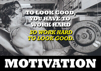 Arnold Schwarzenegger Motivational Poster - Body Builder quotes #43 - A3