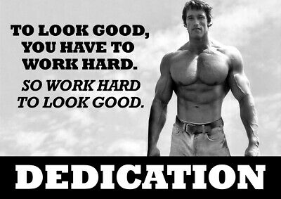 Arnold Schwarzenegger Motivational Poster - Body Builder quotes #44 - A3