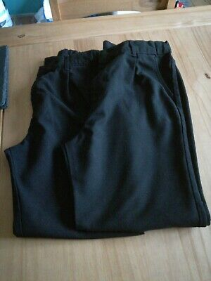 Two pairs of Boys black school trousers 11-12 years