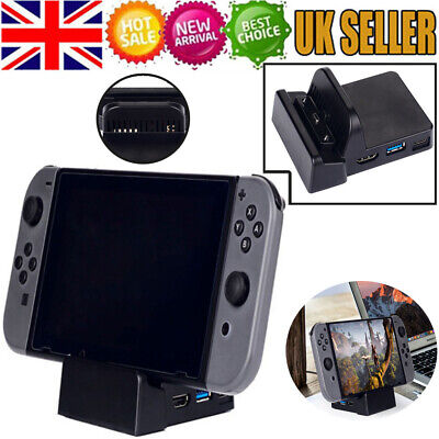 For Nintendo Switch Replacement Dock Docking Station Mount Cooling DIY UK Stock