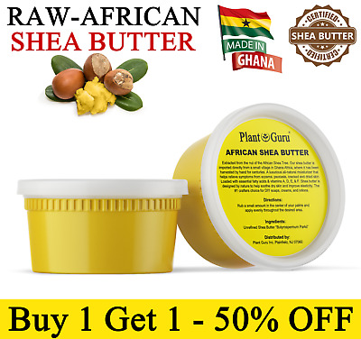 Raw African Shea Butter 12 oz. 100% Pure Organic Unrefined Natural From Ghana