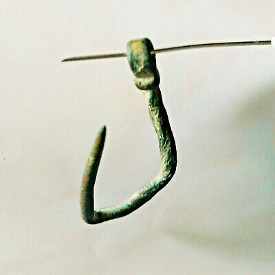 Ancient Celtic Bronze Fish Hook Circa 200 BC Rare