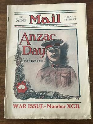 1916 The Sydney Mail 1st ANZAC day parade Gallipoli Vets march AIF wounded KIA