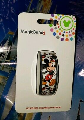 NEW DISNEY MICKEY MOUSE ALL OVER WHITE Magic Band 2 Magicband Parks Ultimate