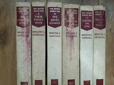 The Second World War Collection  6 Volume Set Winston Churchill Reprint Society