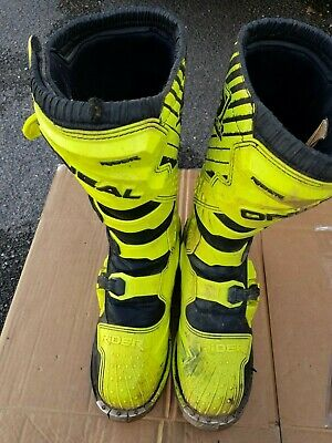 Oneal Rider Motocross Boots Neon Yellow
