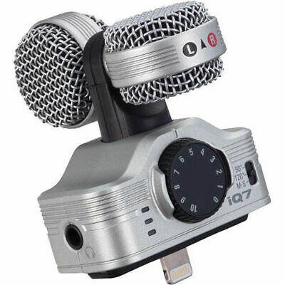 Zoom IQ7 Mid-Side Stereo Microphone iOS Handy Recorder for Apple iPhone/ iPad