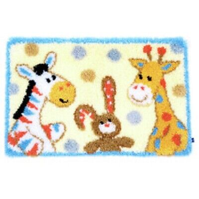 "Latch Hook Rug Kit""Animal Nursery Fun""70x45cm"