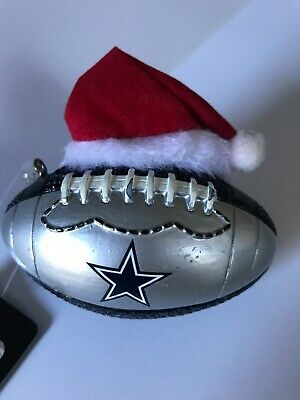 Dallas Cowboys NFL Football with Stocking Christmas Tree Ornament BRAND NEW!