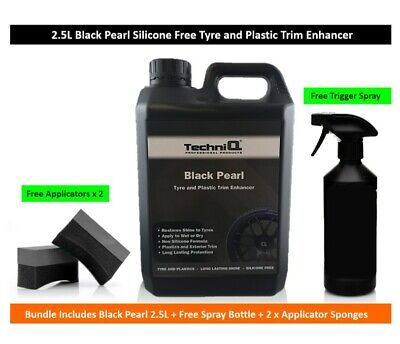 Black Pearl by TechniQ - Tyre & Rubber Plastic Dressing Satin 2.5L OFFER !