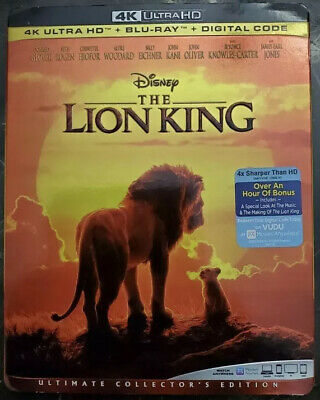 The Lion King 2019 (LIVE ACTION) 4K Blu-ray/Blu-ray W/Slipcover Only NO DIGITAL