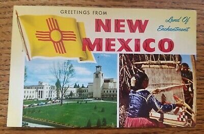 Vintage Greetings From New Mexico Topical Views Chrome Postcard