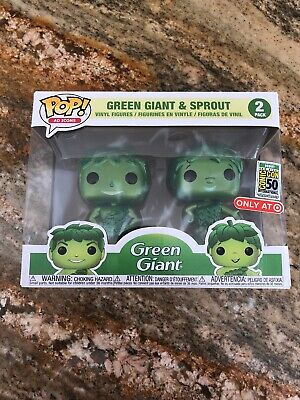 Funko Pop Green Giant & Sprout Metallic 2019 Sdcc Target Debut Official Sticker