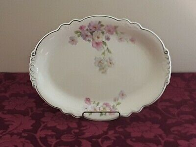 "Set Of (3) Homer Laughlin Virginia Rose Platters - 15"", 13"", 11 1/2"""