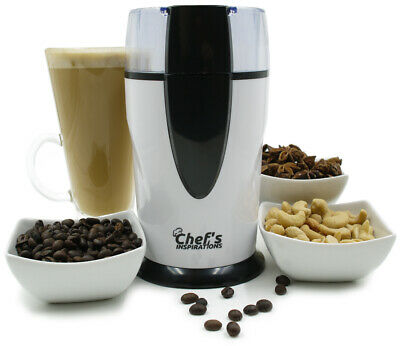 Chef's Inspirations Electric Coffee Grinder. Nut & Spice Grinder. 70g Capacity