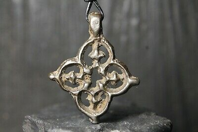 Ancient Viking Bronze Orthodox Pendant, Antique Cross, 9th-11th century AD