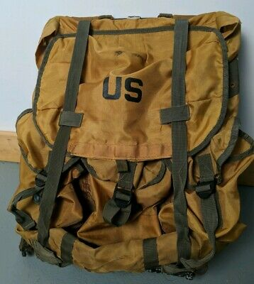 US Military Army Nylon Backpack Metal Frame