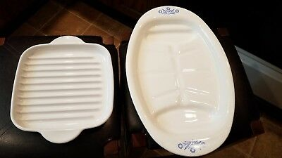 Vintage Corning Ware MR-3 Microwave Browner Grill AND p 19 Platter