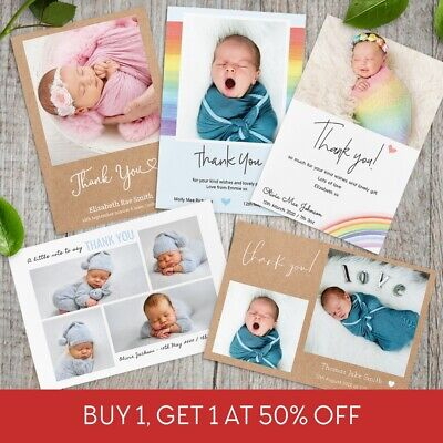 Pack of 10 Personalised Christmas Cards Xmas Photo - Child, Family, Boy & Girl