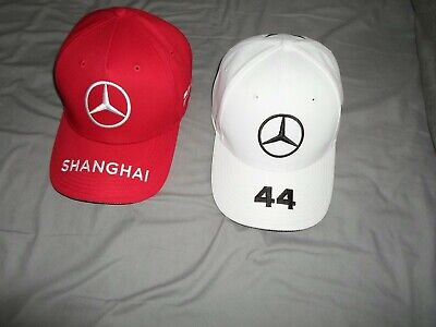 2X F1 2019 Lewis Hamilton Adult Adjustable Caps,In Excellent Condition.uk Only P
