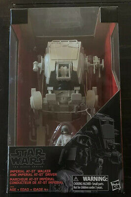 Star Wars Black Series Imperial AT-ST Walker and Imperial Driver Figure (NIB)