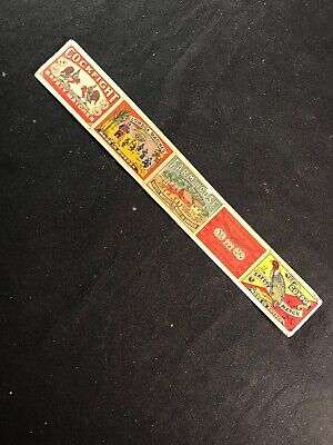 Vintage Strip of 5 Sweden Match Box Covers