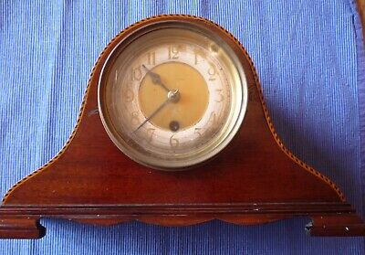 Vintage Antique Wooden Mantle Clock Napoleon Hat Not Working Spares or Repairs