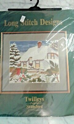 Embroidery kit. Winter cottage. By twilleys.