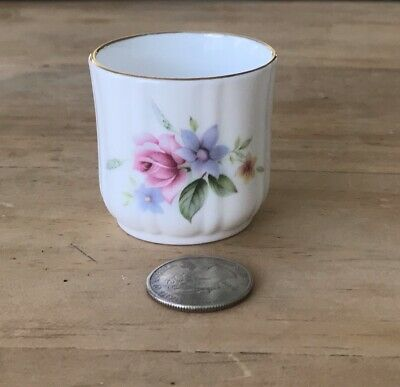 "Vintage Dutches Bone China England Trinket Ring Cup Miniature 1.75"" Toothpick"