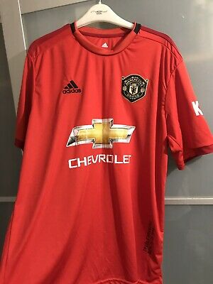 New Manchester United Home 2019/2020 Football Shirt 19/20 Mufc Kit Small