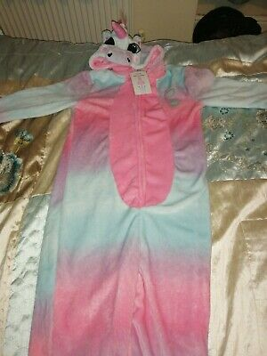 Girl Unicorn All In One Pyjama / Pj Age 12-13 From George BNWT
