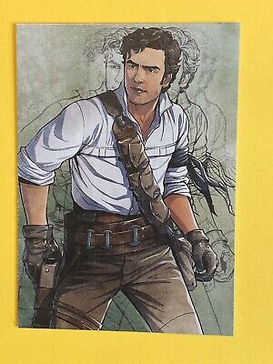 2019 Topps Journey to Rise of Skywalker Illustrated Character #IC-8 Poe Dameron