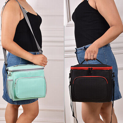 Double Deck Lunch Bag Dual Compartment for Women Men Work Office