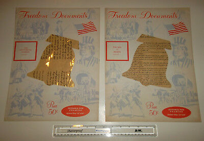 Freedom Documents: Bill of Rights, Gettysburg Address, Constitution & DOI 11x14