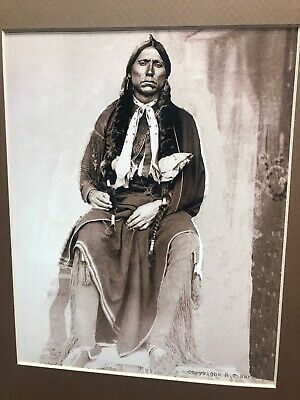 1897 Quanah Parker Photo Print Fort Sill Native American