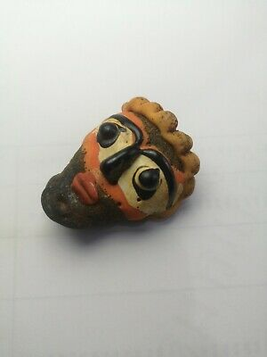 Wonderful Ancient Mosaic Face Bead Near Western Sassanian Islamic Amulet Rare