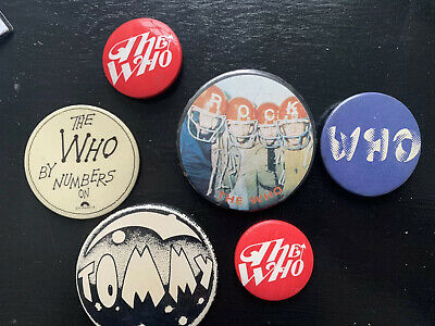 The WHO 6 Fantastic Badges 1970's