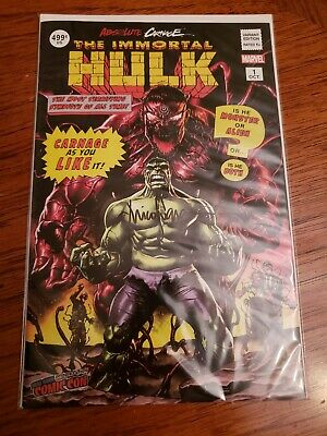 Absolute Carnage Immortal Hulk #1 Nycc Signed By Mico Suayan Variant Exclusive