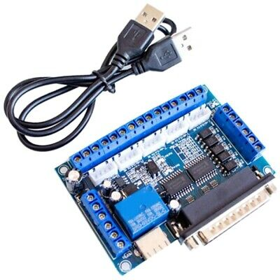 2X(CNC 5-Axis Stepper Motor Driver Interface Board with USB Cable Optocouple X3)