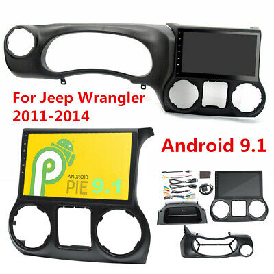 "10.1"" Android 9.1 Radio  Stereo GPS Touchscreen 2GB+32GB For Jeep Wrangler 11-14"