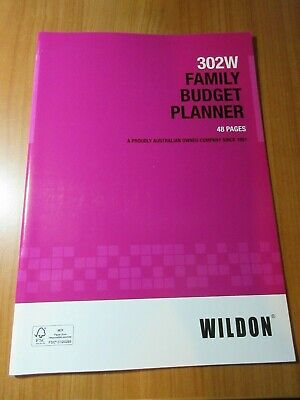 Wildon FAMILY BUDGET PLANNER 48P 302W in stock ready to post