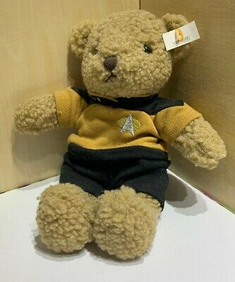 1998 Star Trek The Experience Las Vegas Authentic Teddy Bear Command Kirk