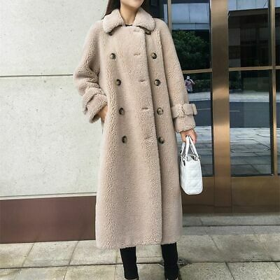 Girls Warm Coat Fur Jacket Long Stylish Outdoor Wear Thick Clothes Overcoat New