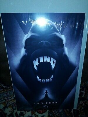 """King Kong On Broadway Poster 14"""" X 22"""" W/ Used Tickets To The Show"""